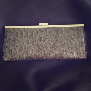 Style and co gray textured clutch purse